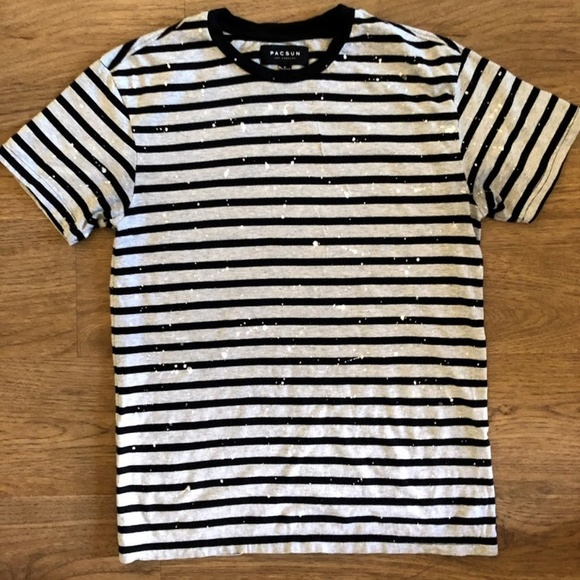 PacSun Other - Striped Paint Drip Tee